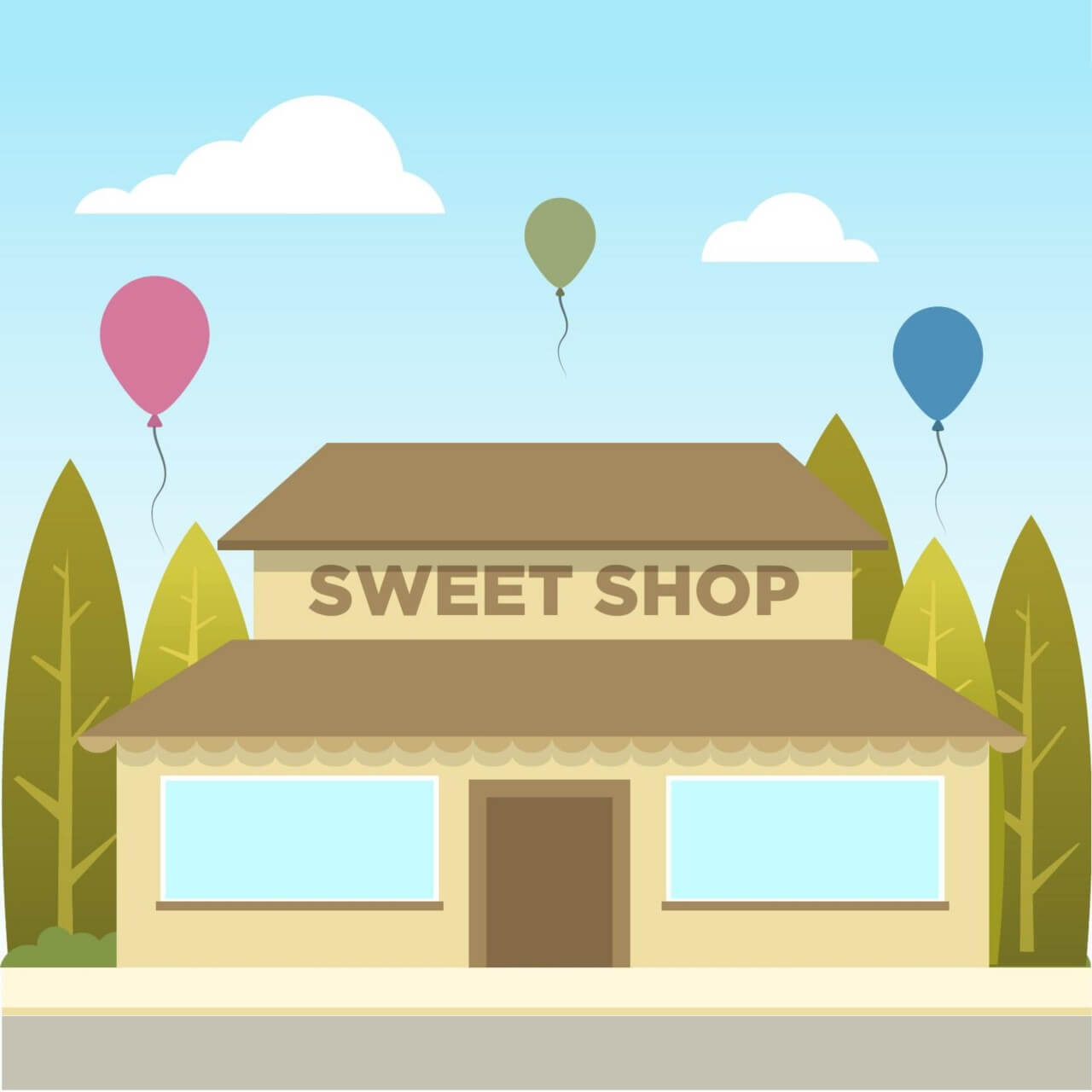 "Free vector ""Sweet Shop"""