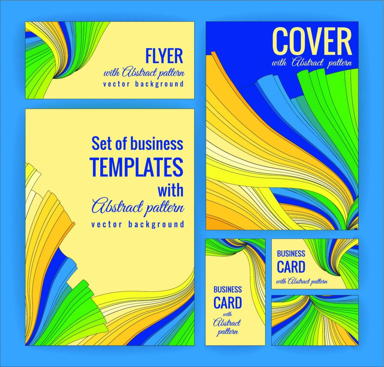"Free vector ""Set of business templates with abstract pattern. Vector background."""