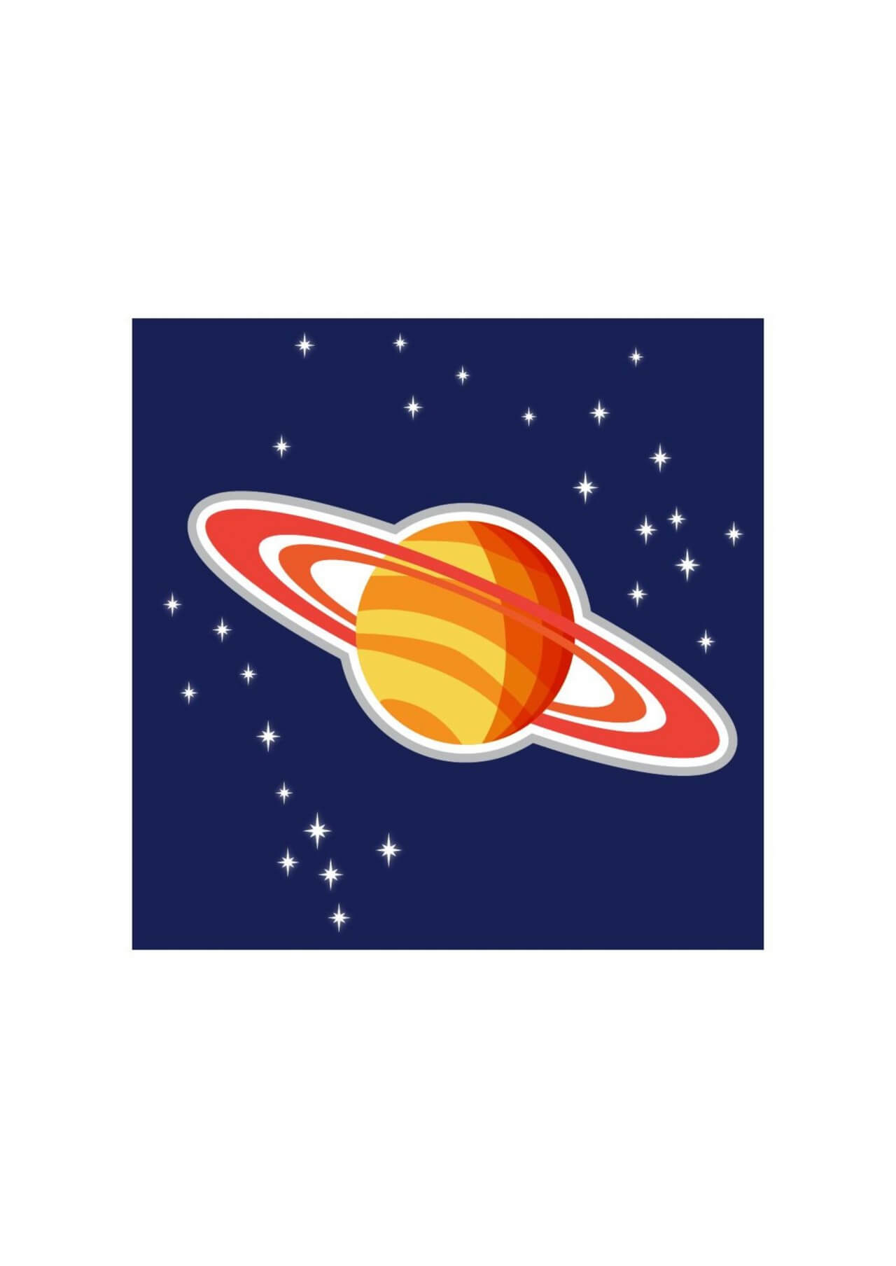 "Free vector ""Illustration of Saturn planet"""