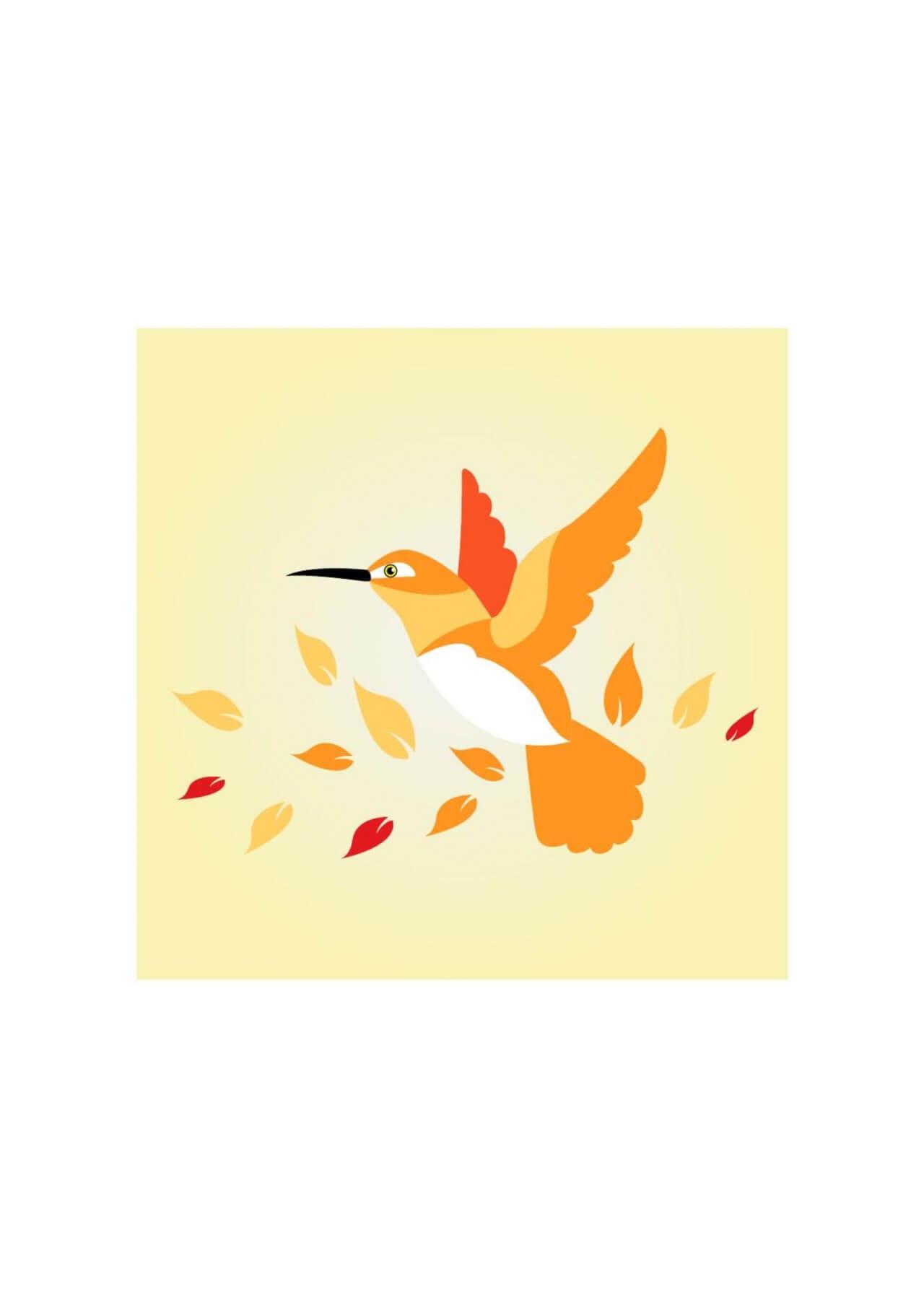 "Free vector ""Bird flying"""