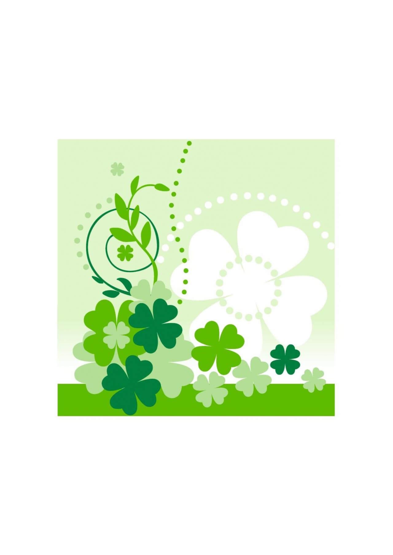 "Free vector ""Clover composition"""