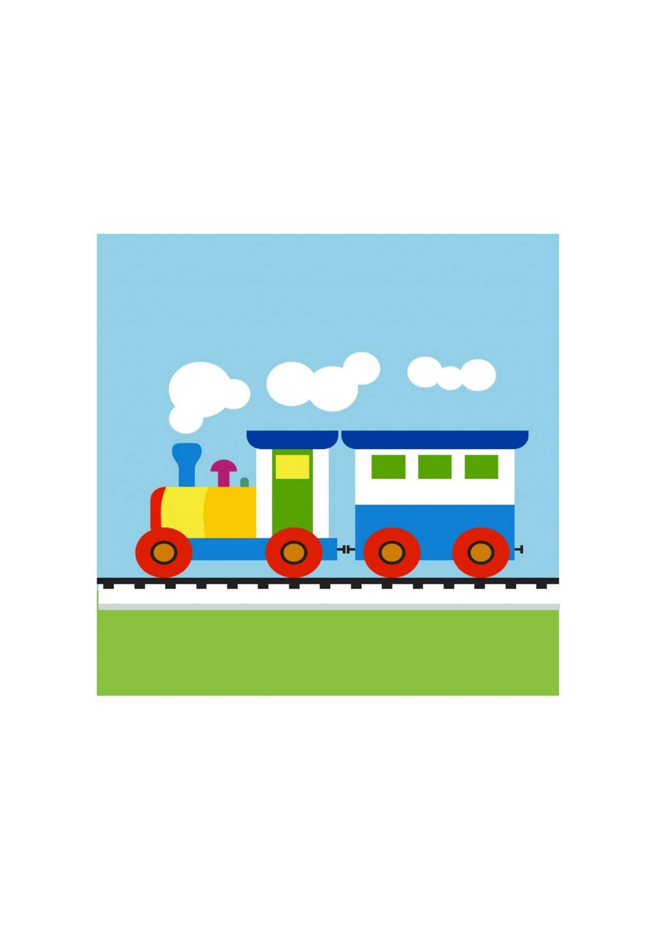 "Free vector ""Colorful Child train"""