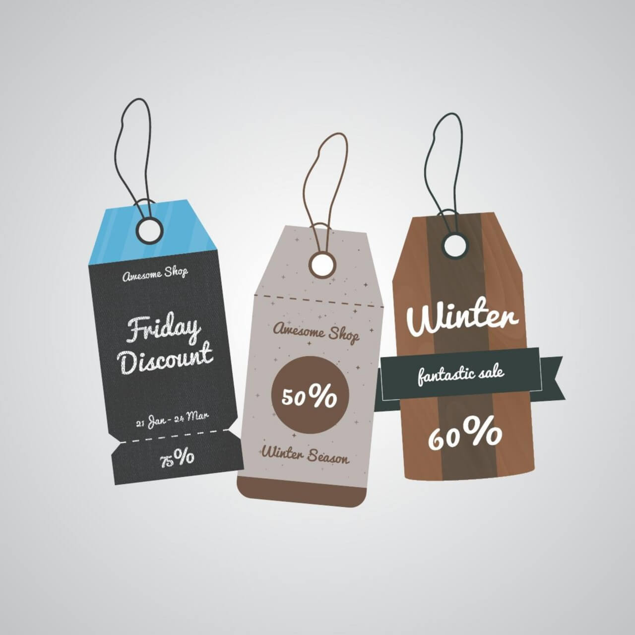 "Free vector ""Sale labels tags"""