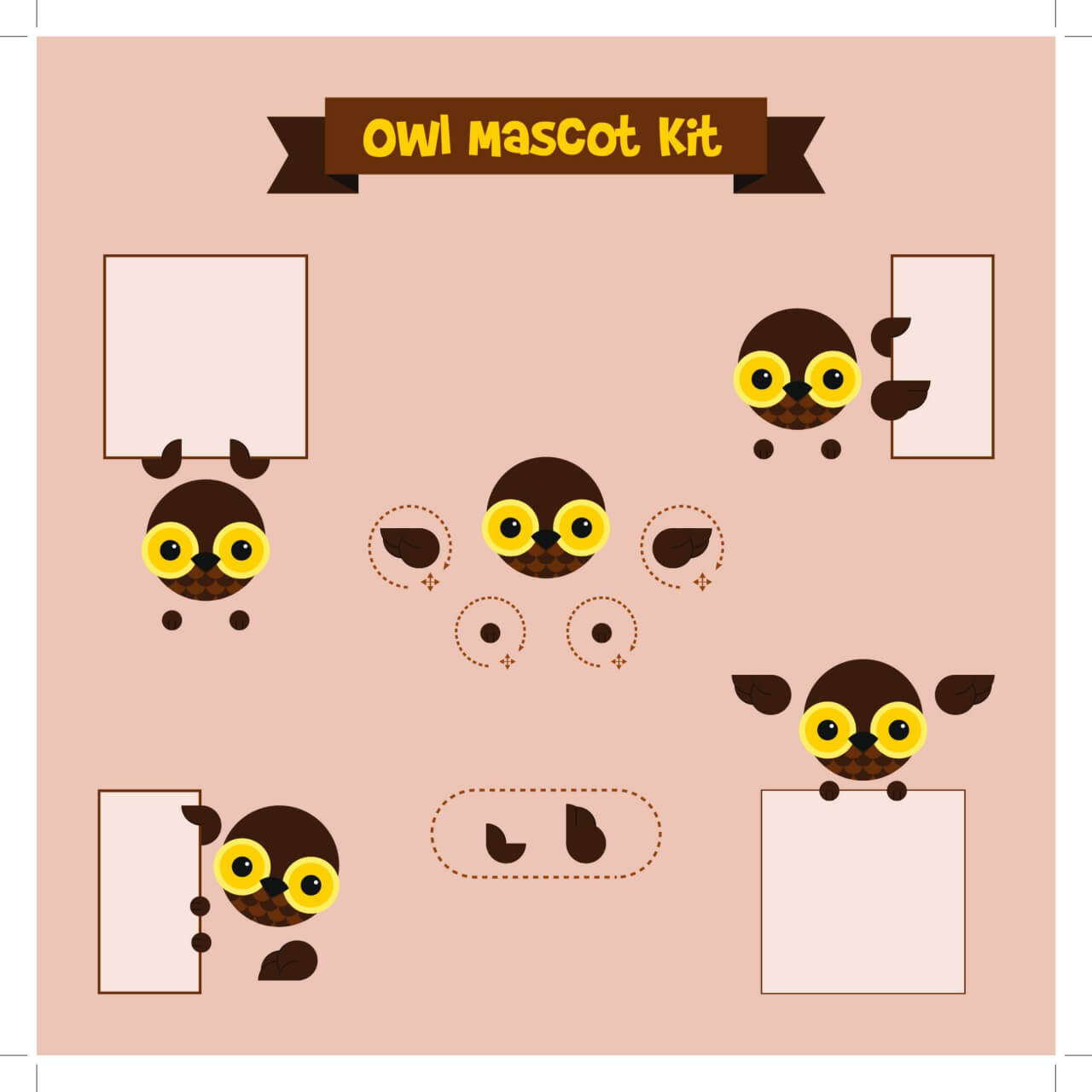"Free vector ""Owl mascot"""