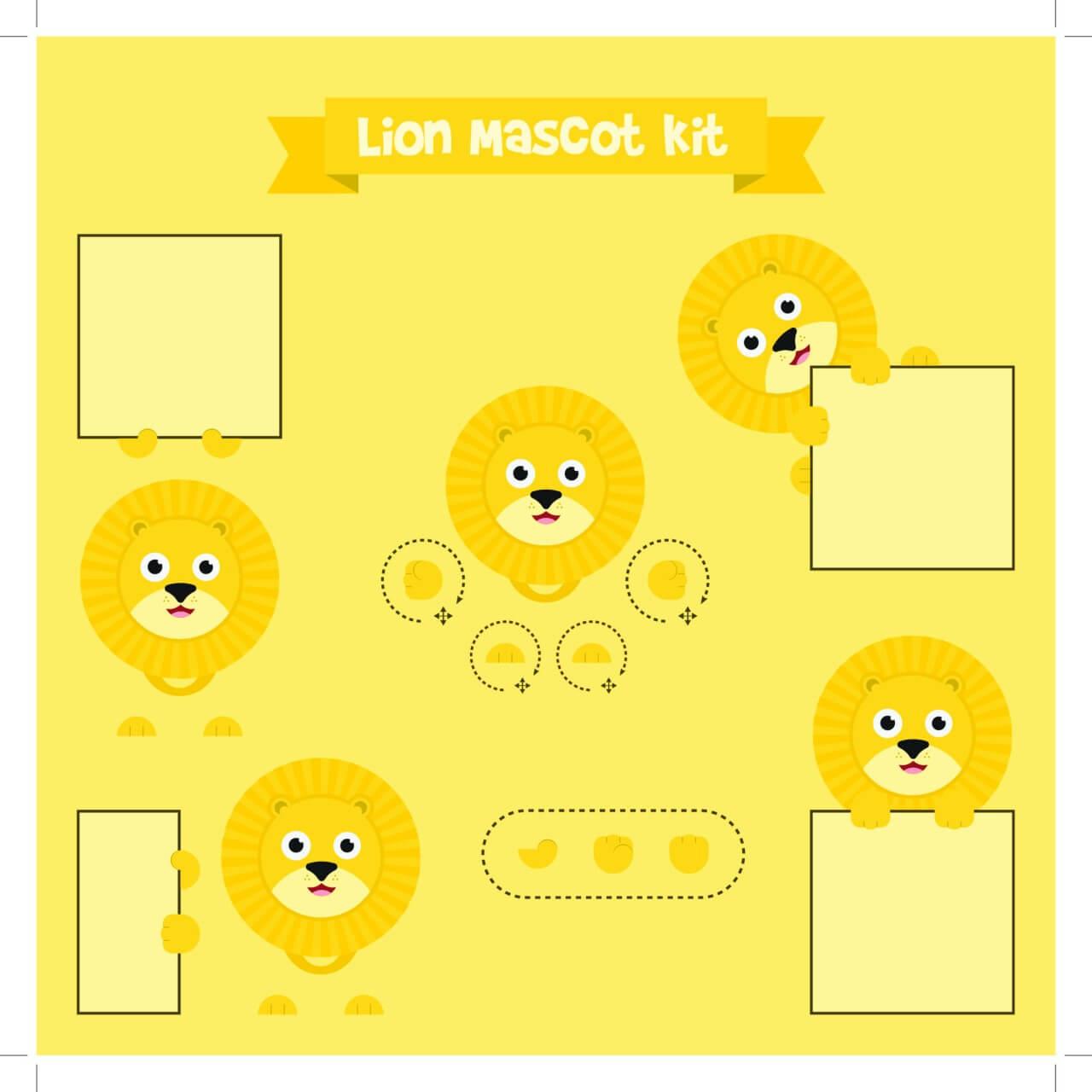 "Free vector ""Lion mascot"""
