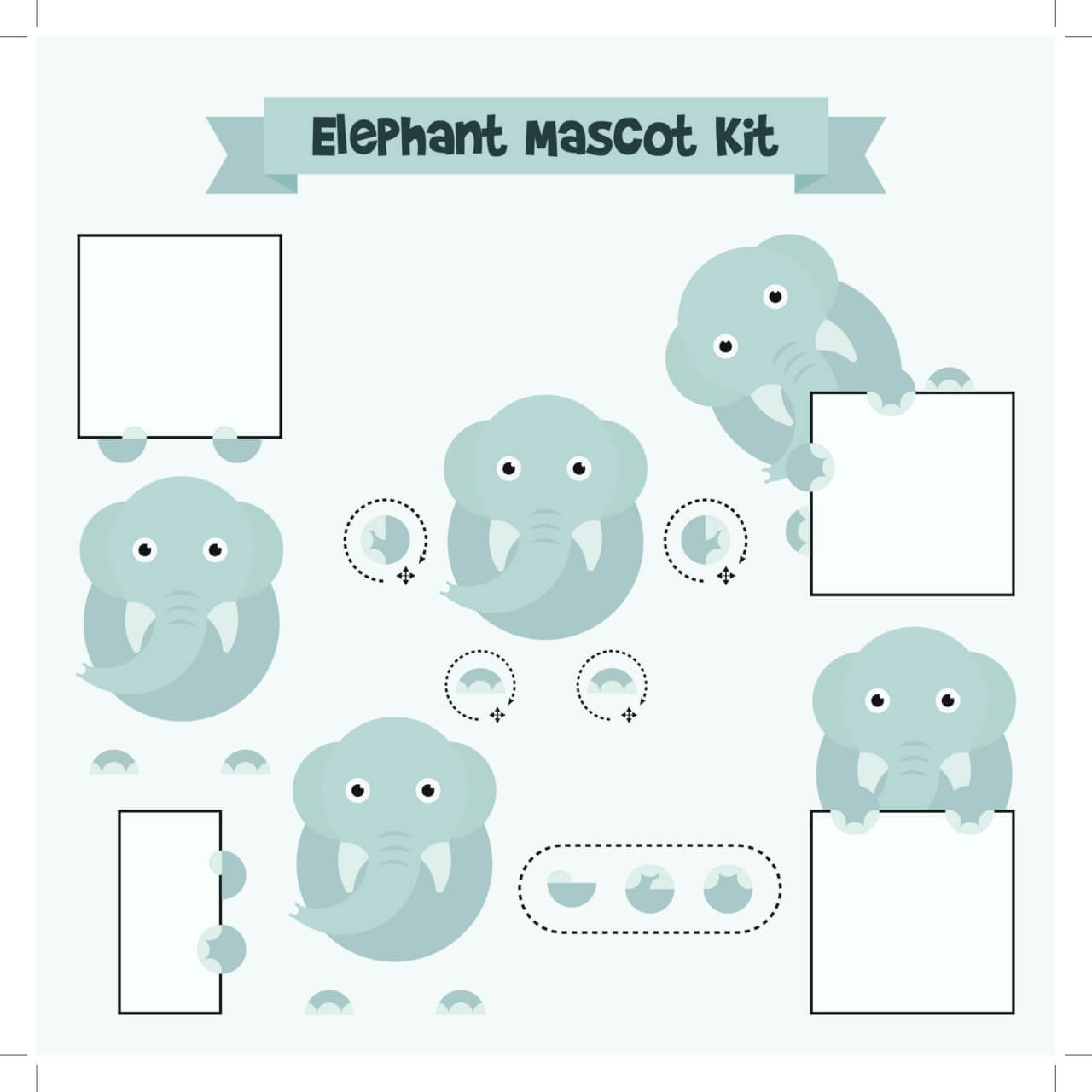 "Free vector ""Elephant mascot"""