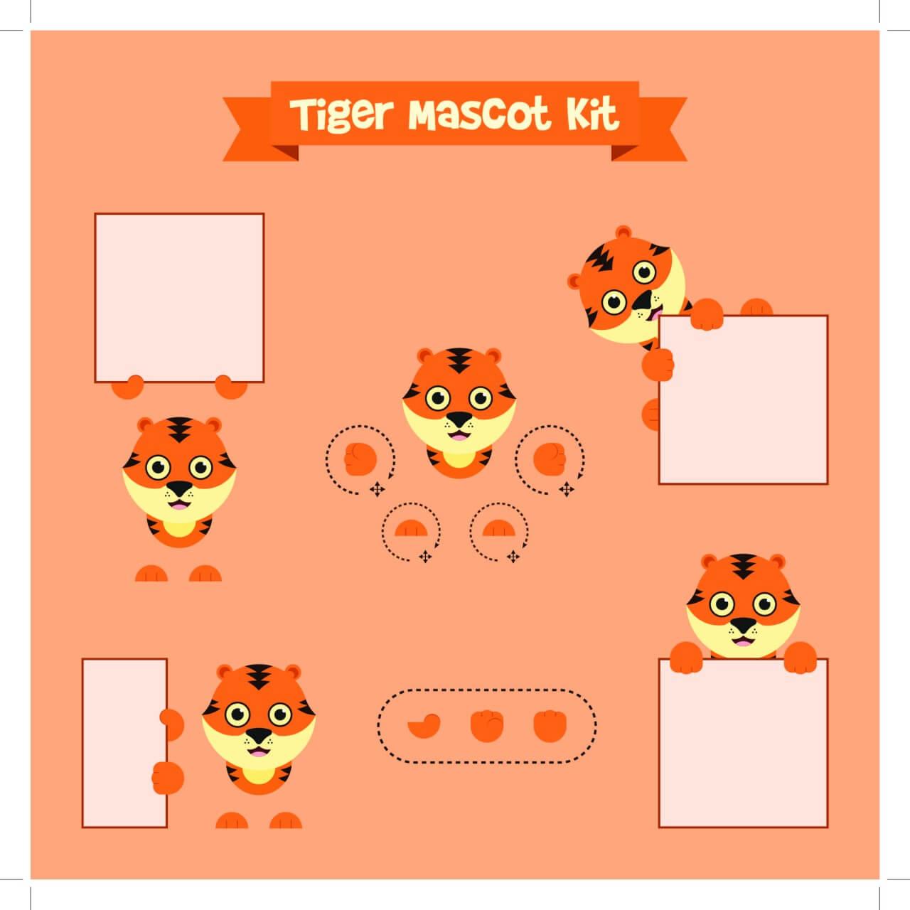 """Free vector """"Tiger mascot"""""""