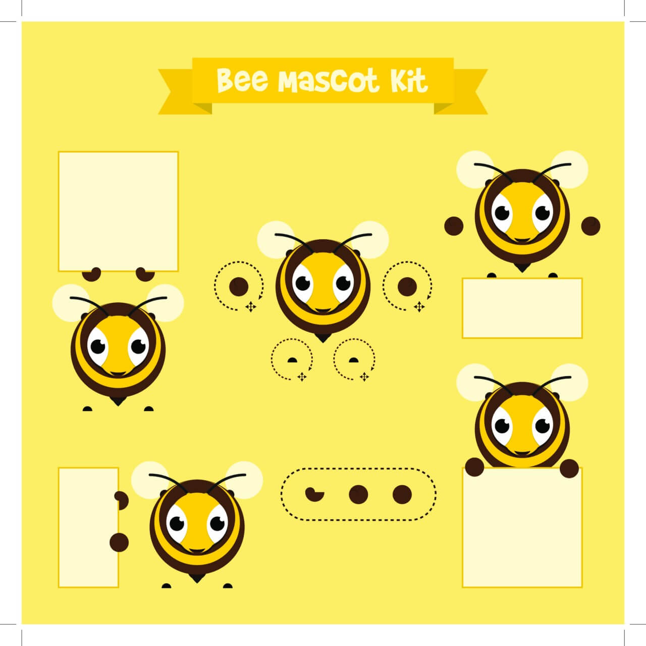 "Free vector ""Bee mascot"""