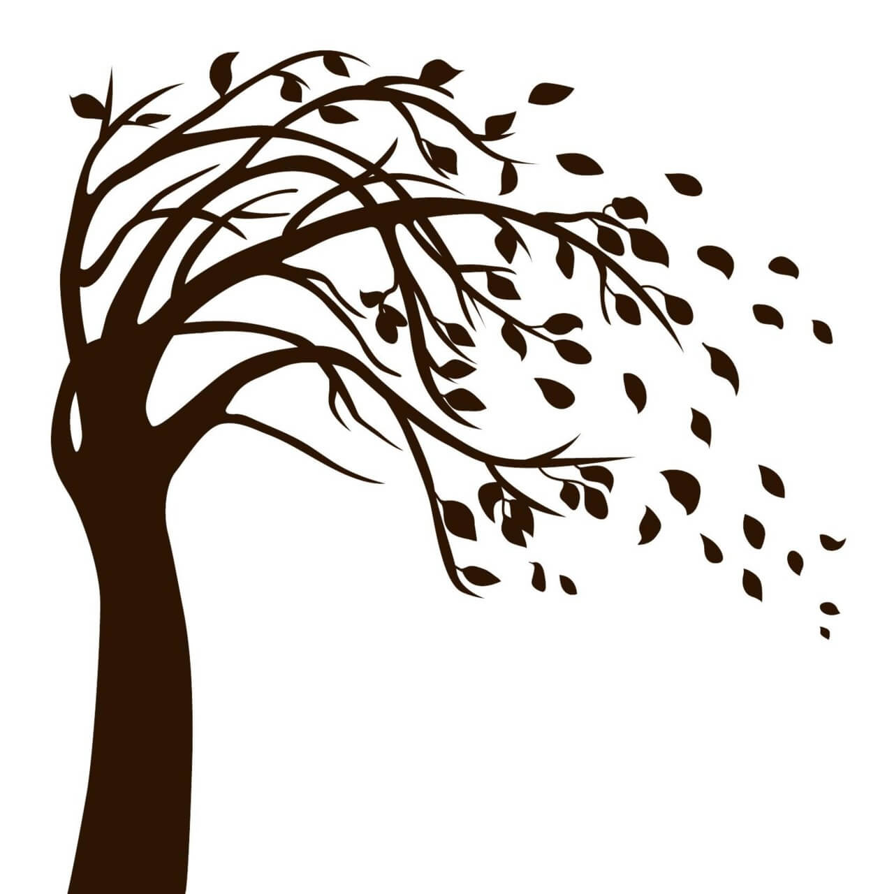 "Free vector ""Isolated Black Tree"""