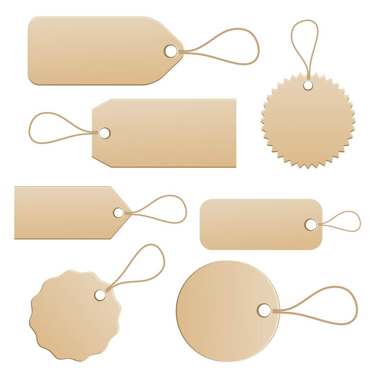 "Free vector ""Paper Price Tags"""