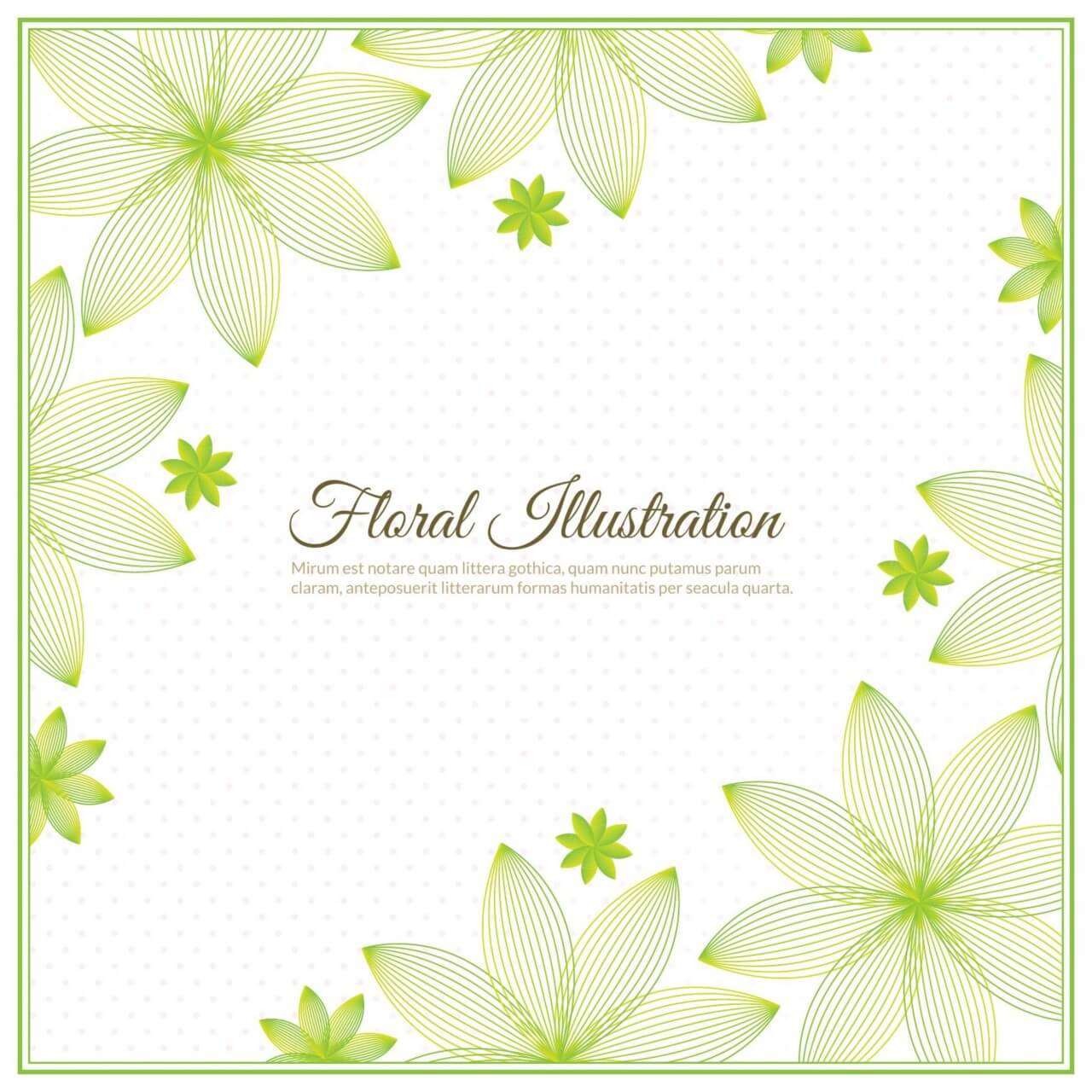 "Free vector ""Floral background illustration """