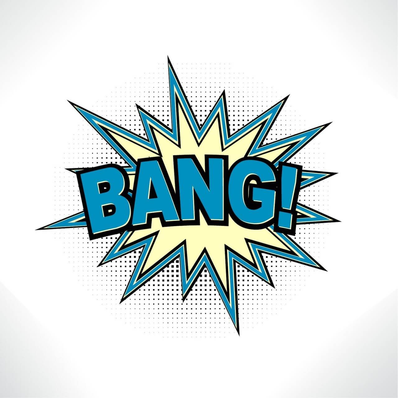 "Free vector ""Comic Book Exclamation"""
