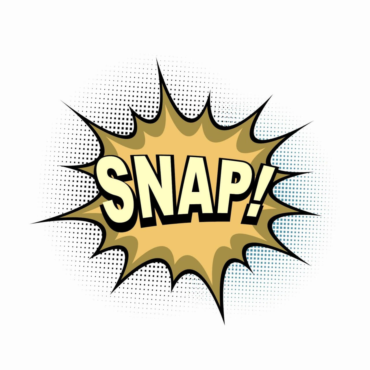 """Free vector """"Comic Book Explosion, Snap"""""""