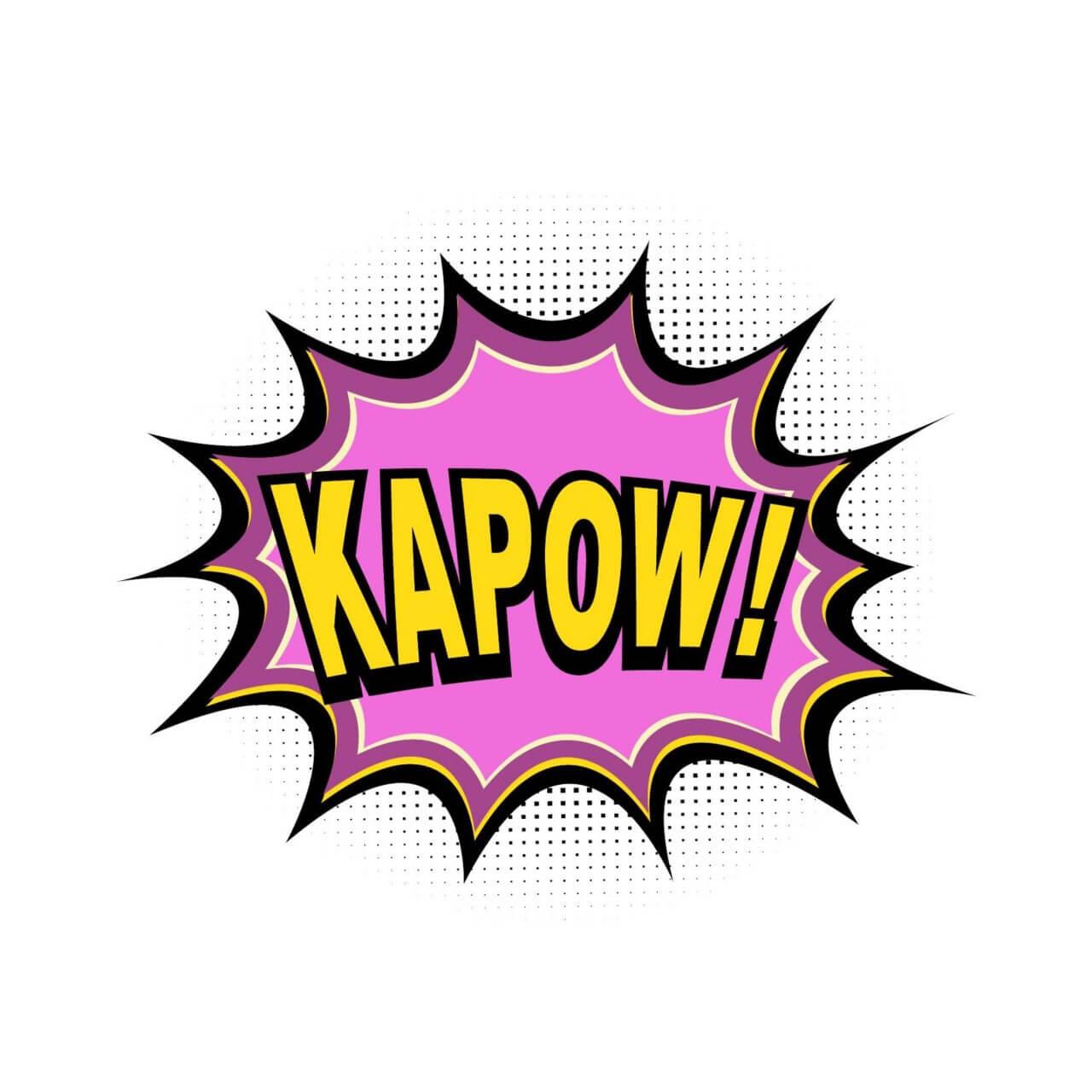 "Free vector ""Comic Book Explosion, Kapow"""