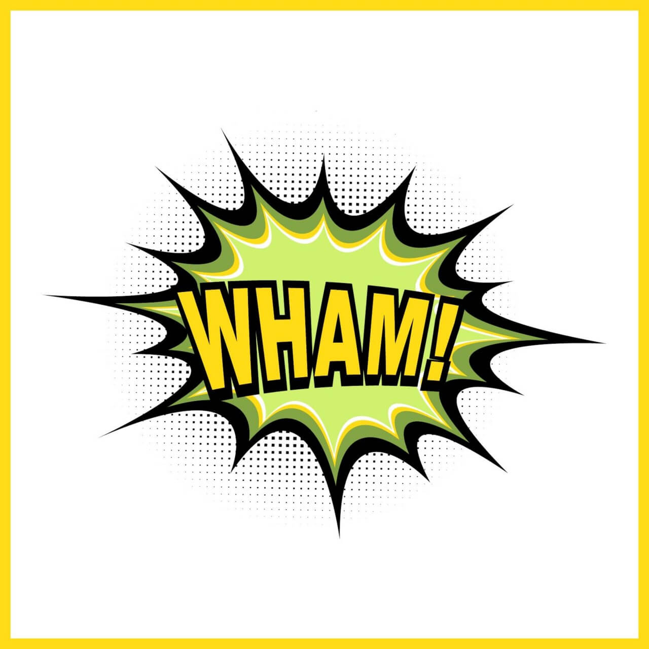 """Free vector """"Comic book explosion, wham"""""""