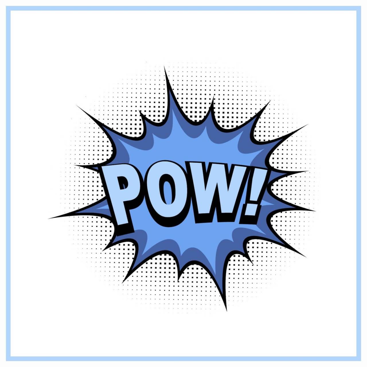 """Free vector """"Comic book explosion, pow"""""""