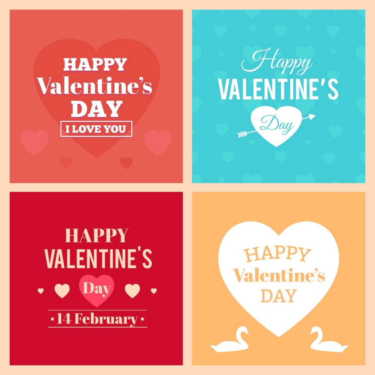 "Free vector ""Happy Valentine's Day Cards"""