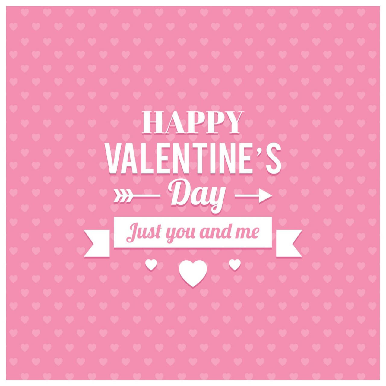 "Free vector ""Happy Valentine's Day Illustration"""