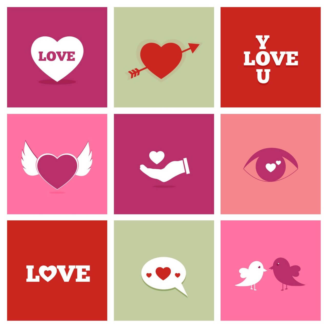 "Free vector ""Valentine's Day Icons"""