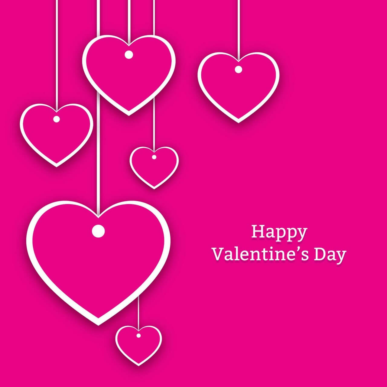 "Free vector ""Valentine's Day Hearts Card"""