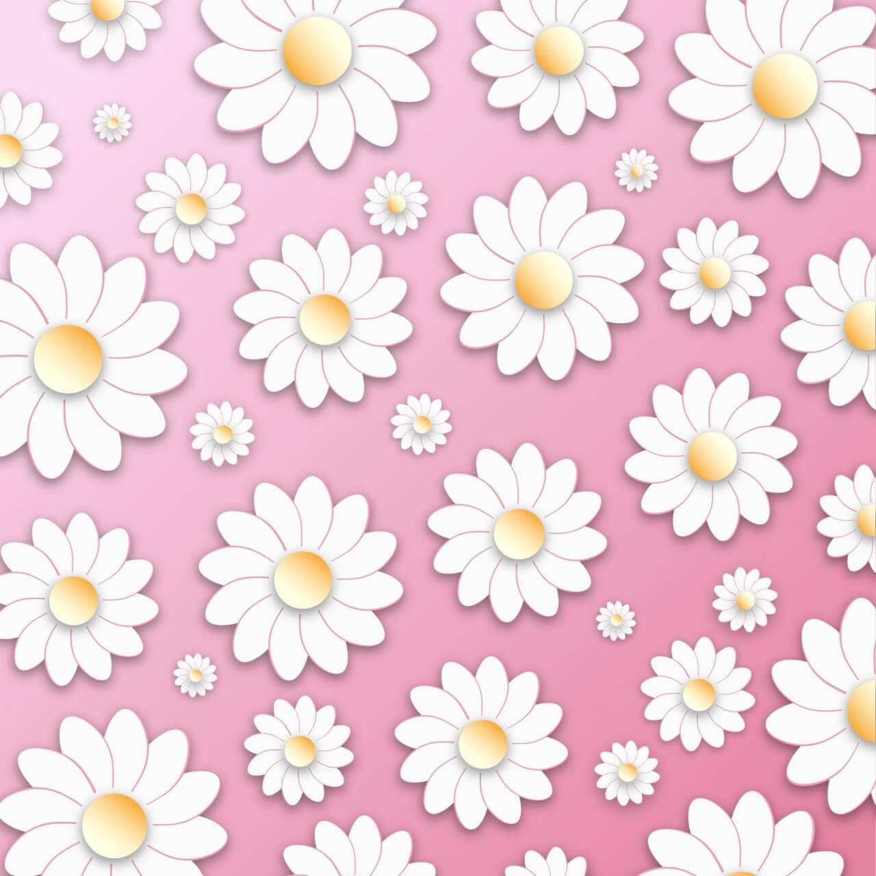 "Free vector ""Floral 3D Pattern"""