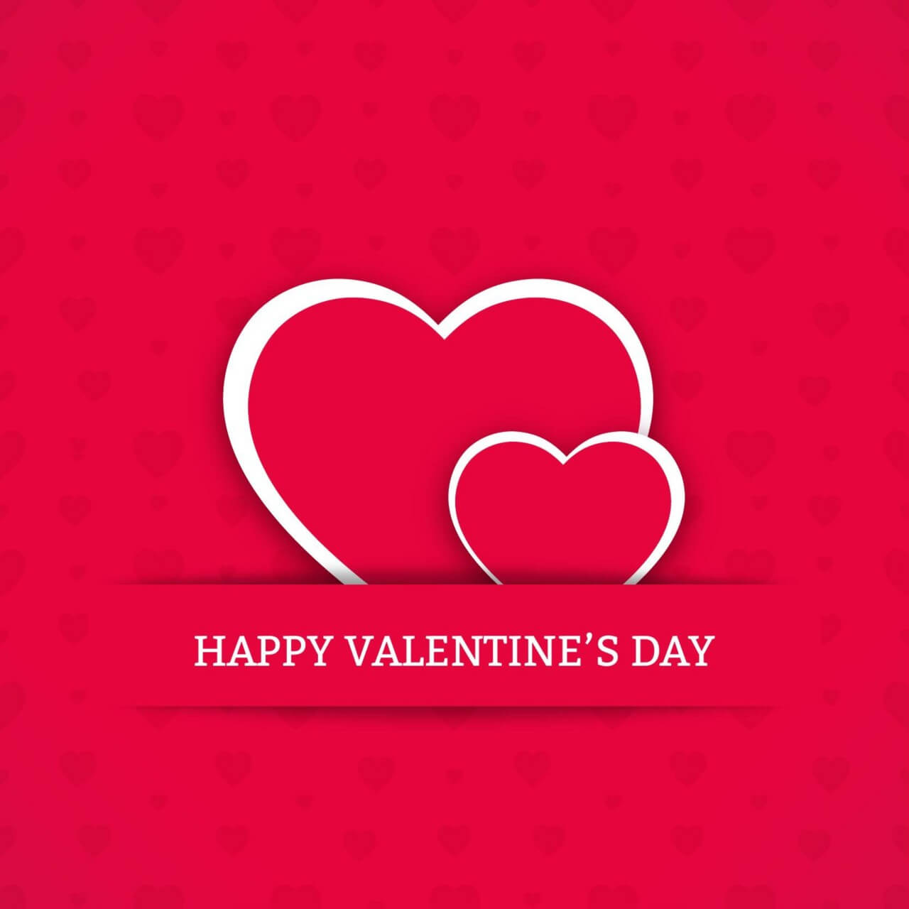 """Free vector """"Valentine's Day Card with Hearts"""""""