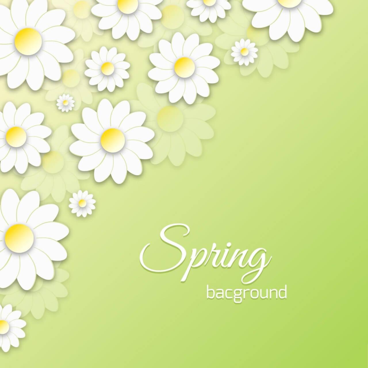 """Free vector """"Spring Floral 3D Illustration"""""""