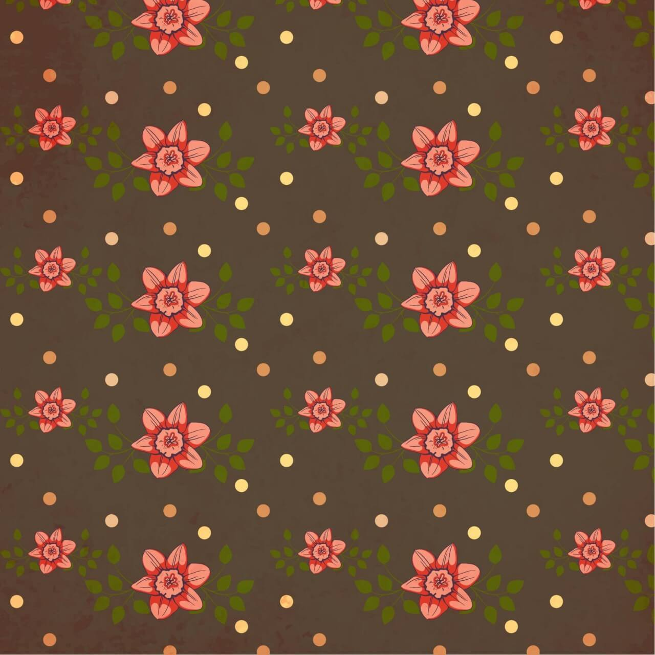 "Free vector ""Vintage pattern with flowers"""