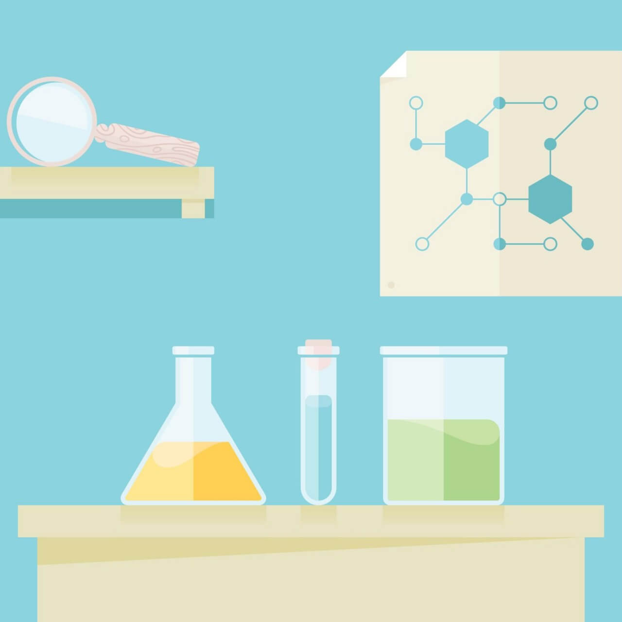 "Free vector ""Science lab"""