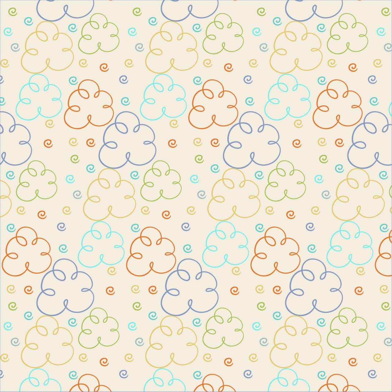 "Free vector ""Cute pattern with clouds"""