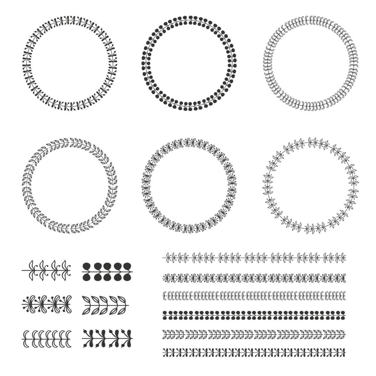 "Free vector ""Vintage vector set of wreaths"""
