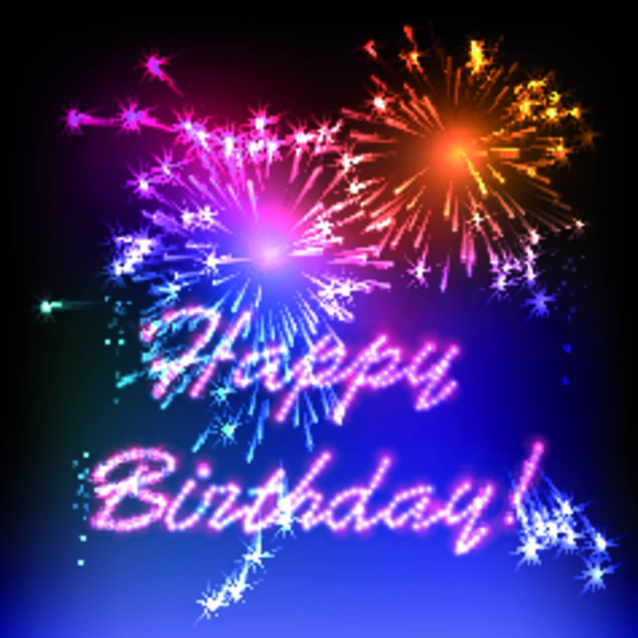 "Free vector ""Happy Birthday fireworks"""