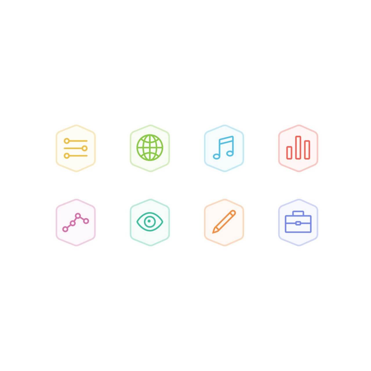 """Free vector """"Bertie Icons - Mini Set 5"""""""