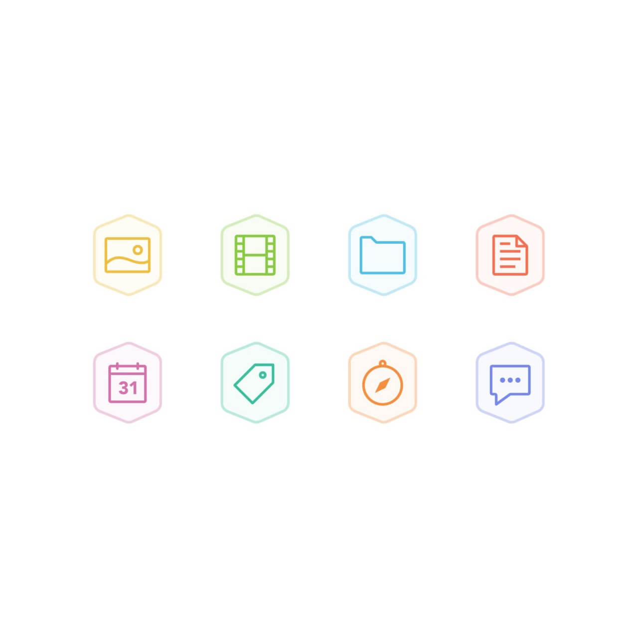 "Free vector ""Bertie Icons - Mini Set 1"""
