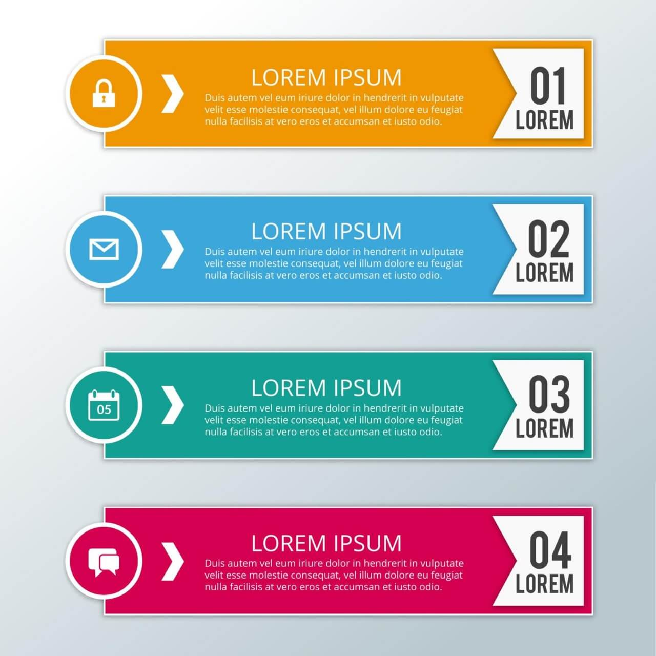 "Free vector ""Modern business infographic steps"""