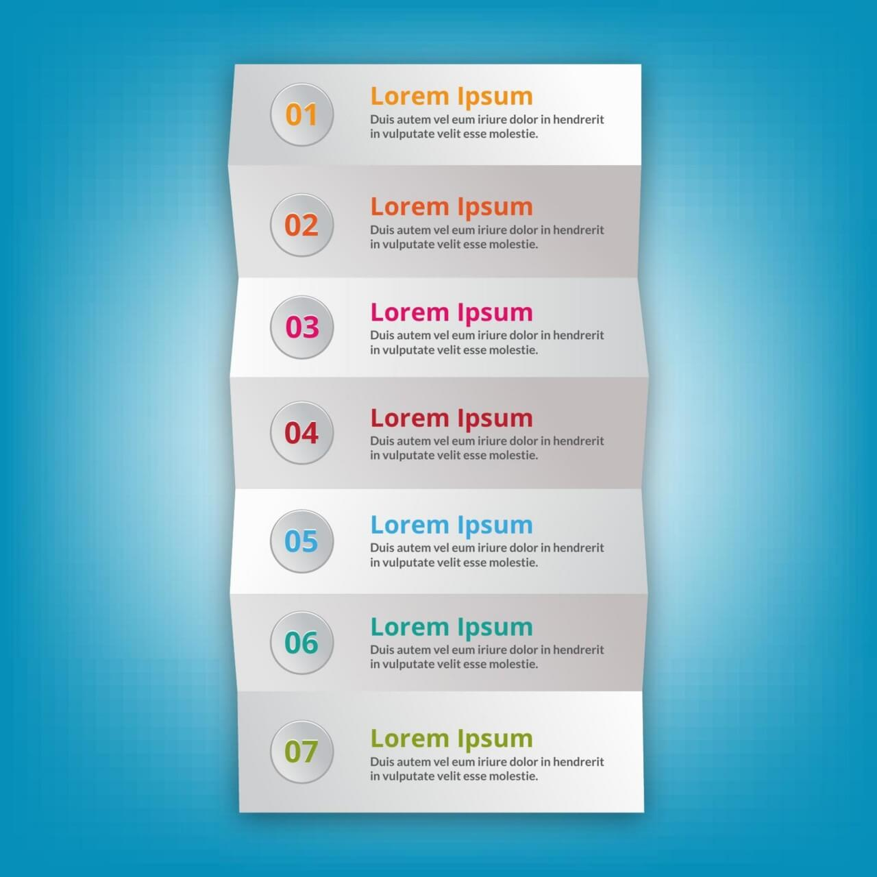 """Free vector """"Modern business step folded paper style"""""""