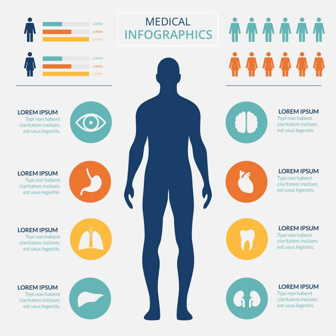 "Free vector ""Medical healtcare infographic"""