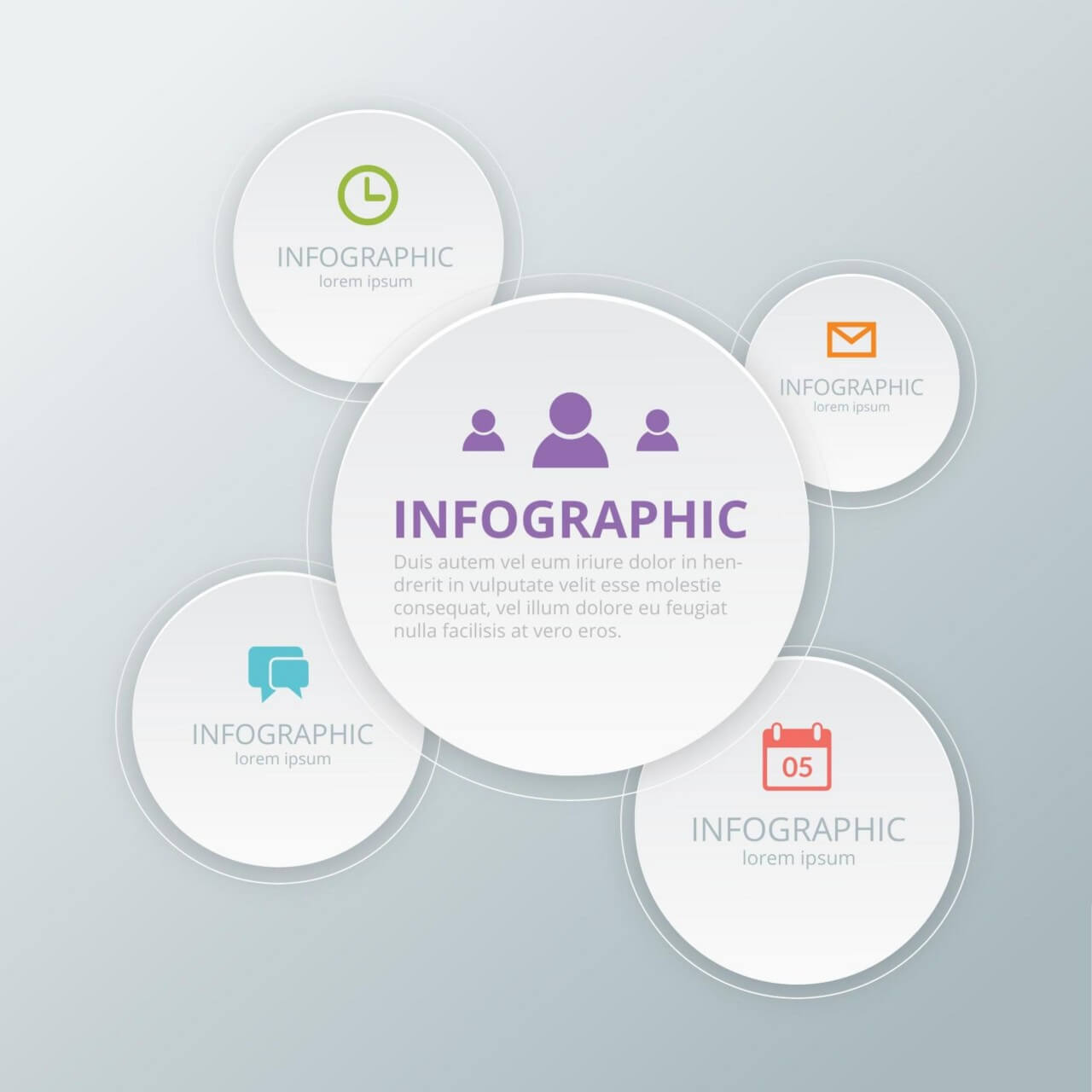 "Free vector ""Social Media Infographic Template"""