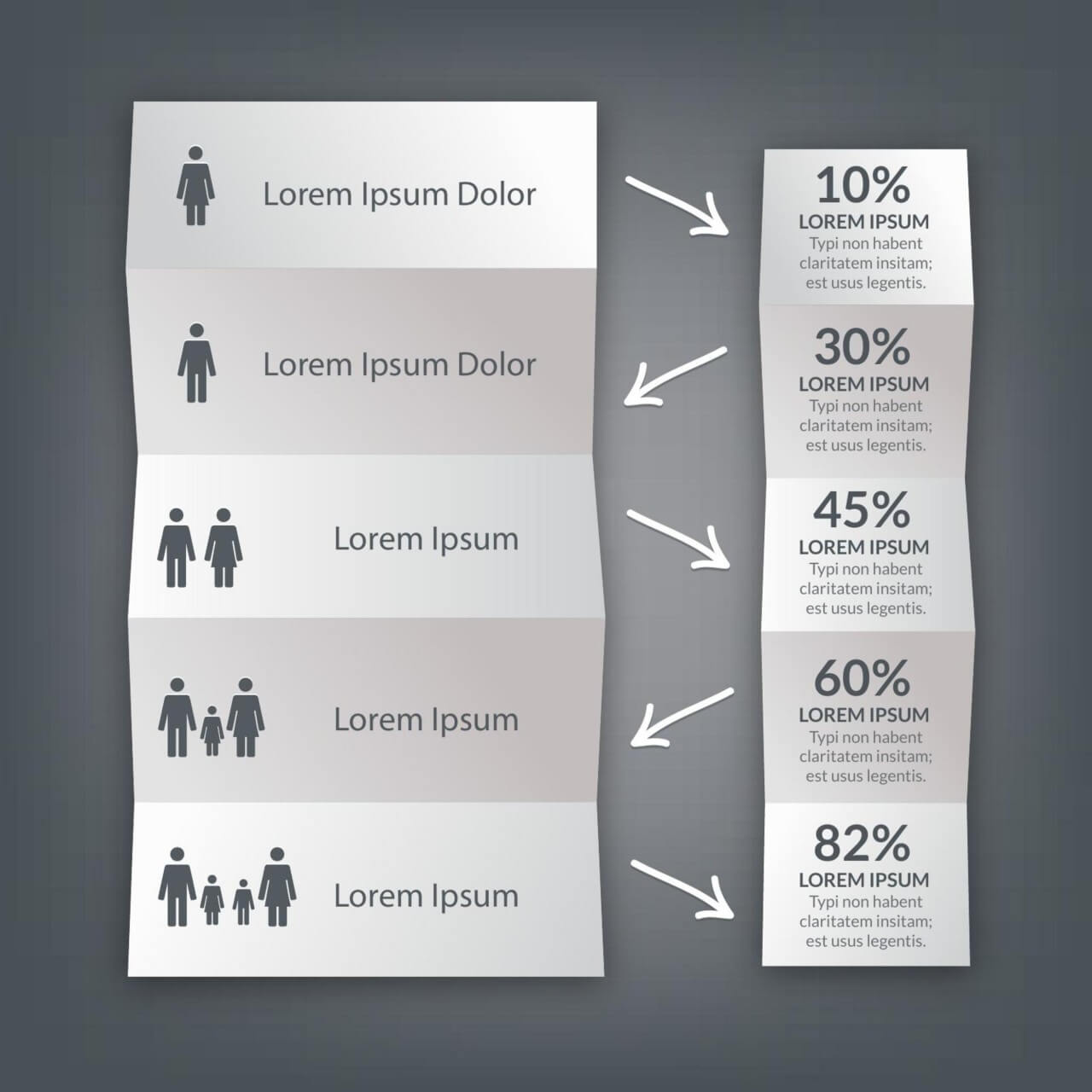 """Free vector """"Infographic folded paper design"""""""