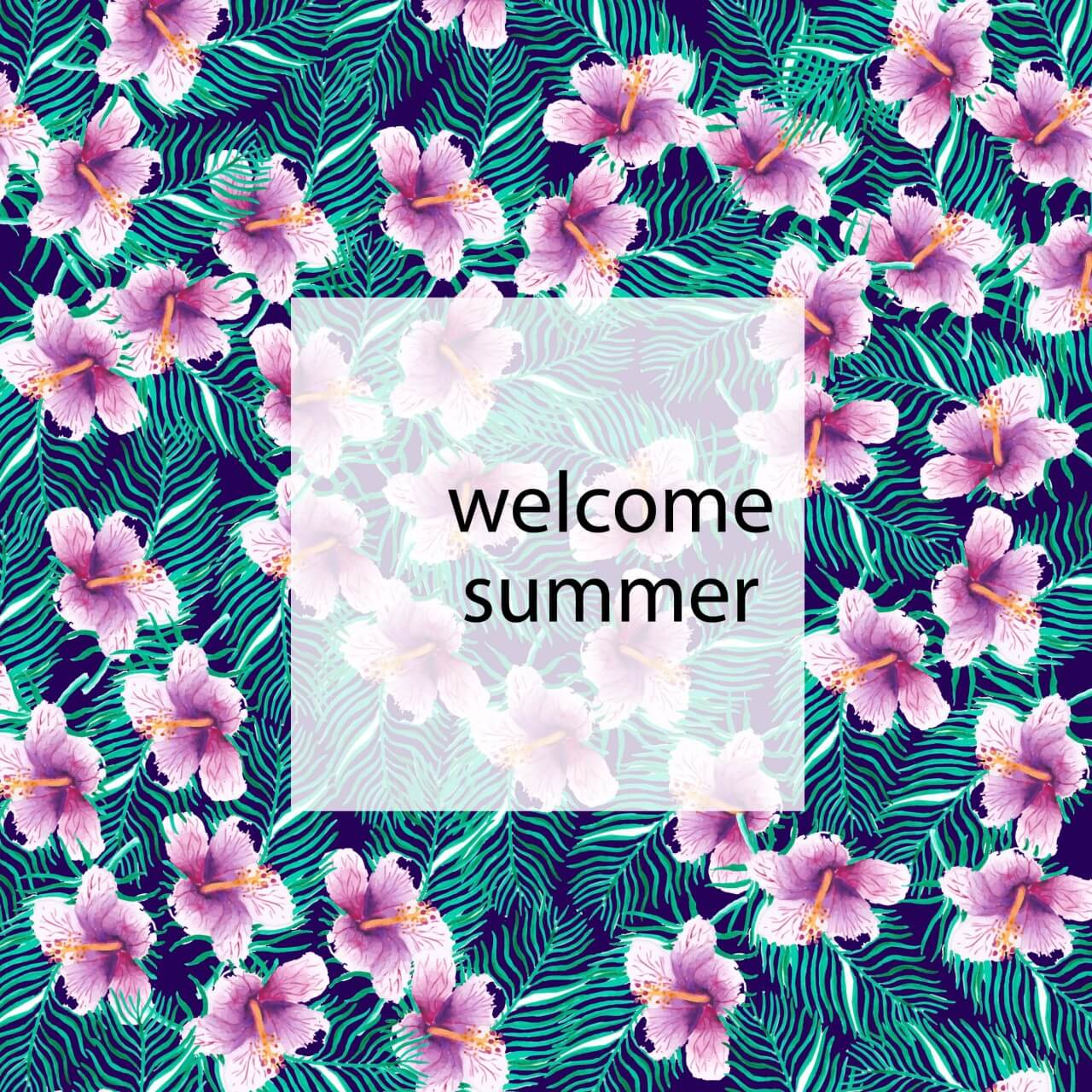 """Free vector """"Tropical floral summer background"""""""