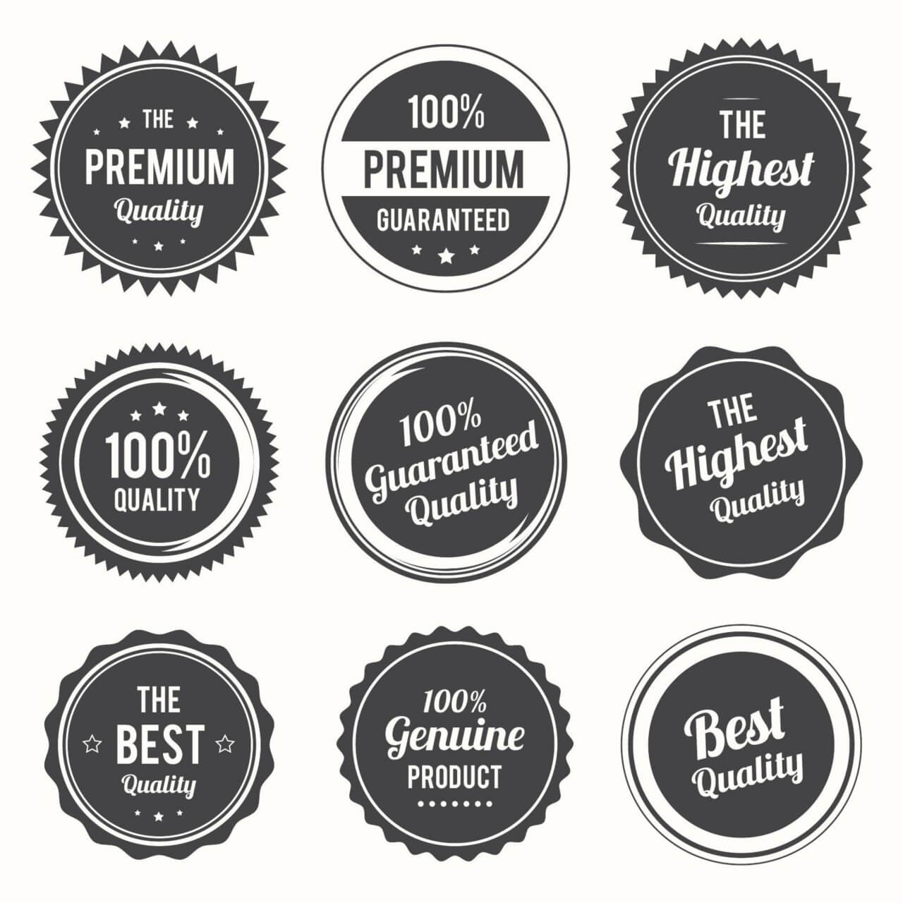 "Free vector ""Set of retro labels and and badges"""