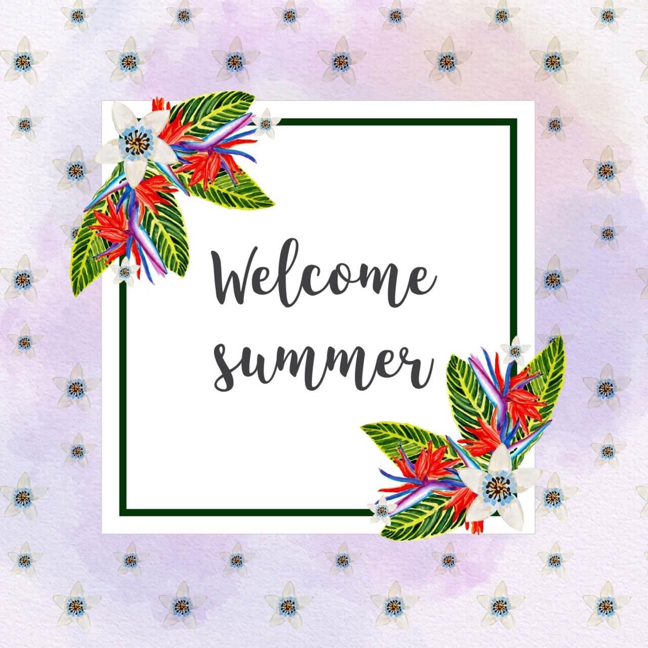 "Free vector ""Tropical summer card"""