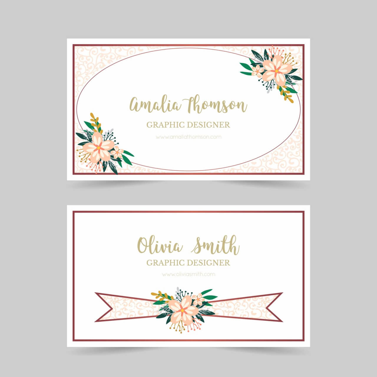 "Free vector ""Floral business card"""