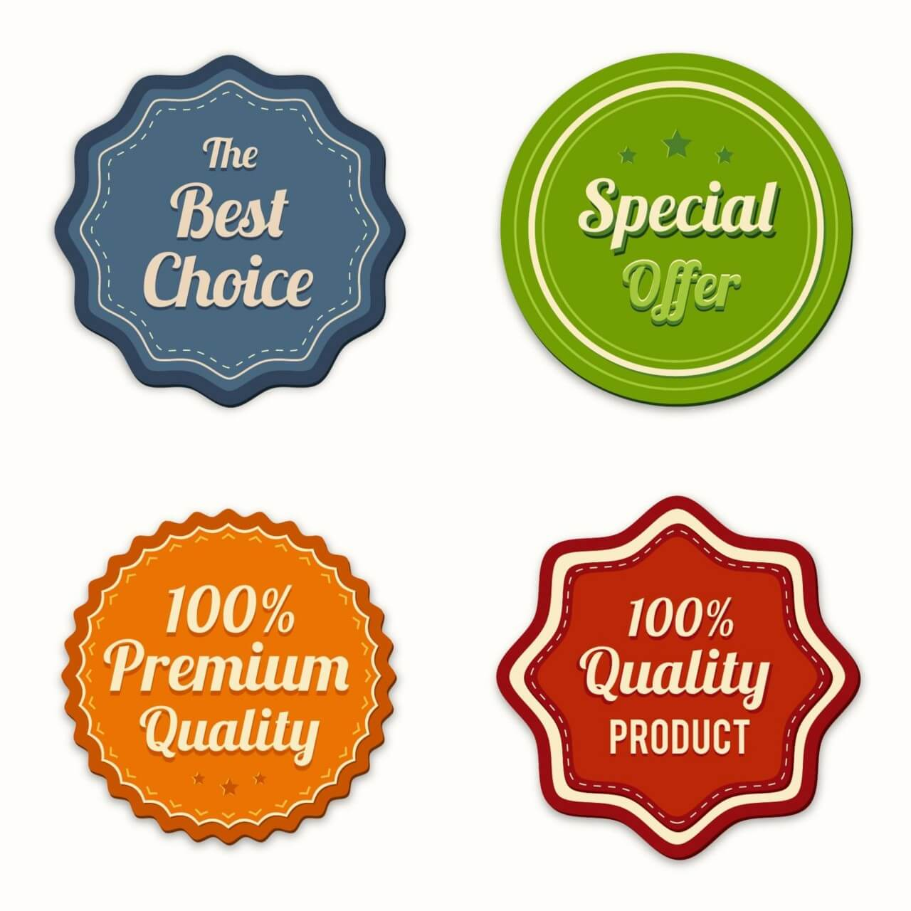 "Free vector ""Badges vector collection"""