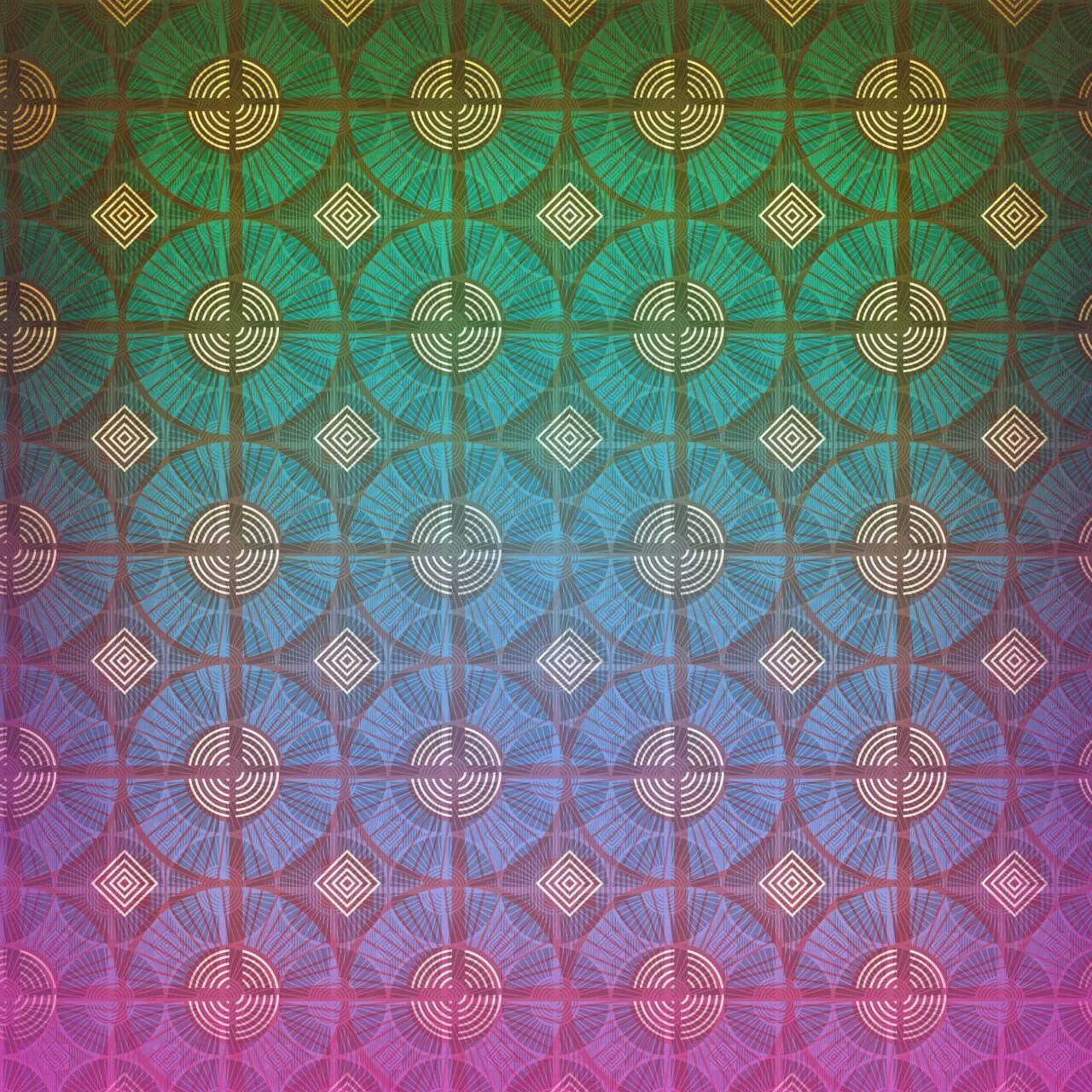 "Free vector ""Geometric vintage pattern"""