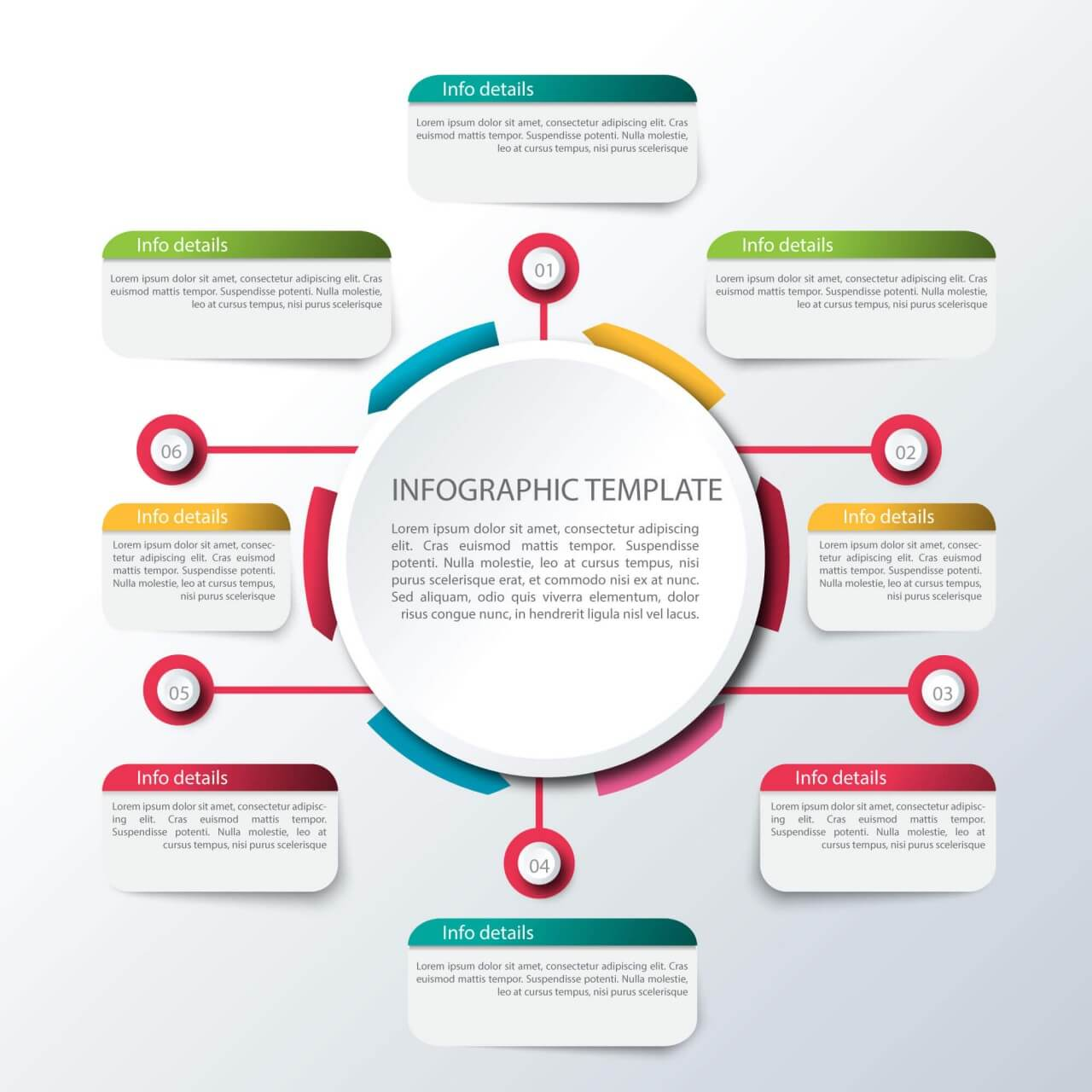 """Free vector """"Abstract infographic template"""""""