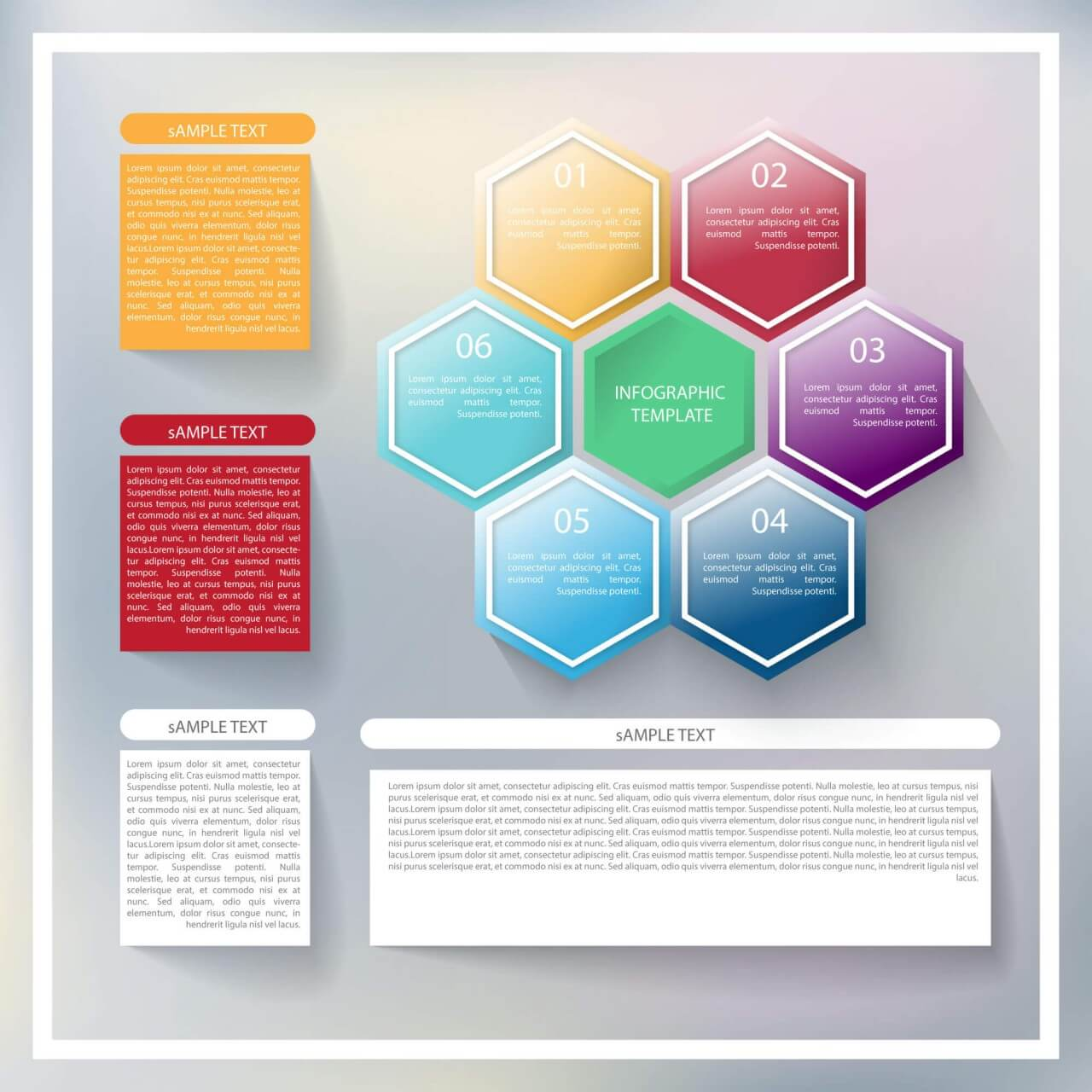 "Free vector ""Abstract infographic template"""