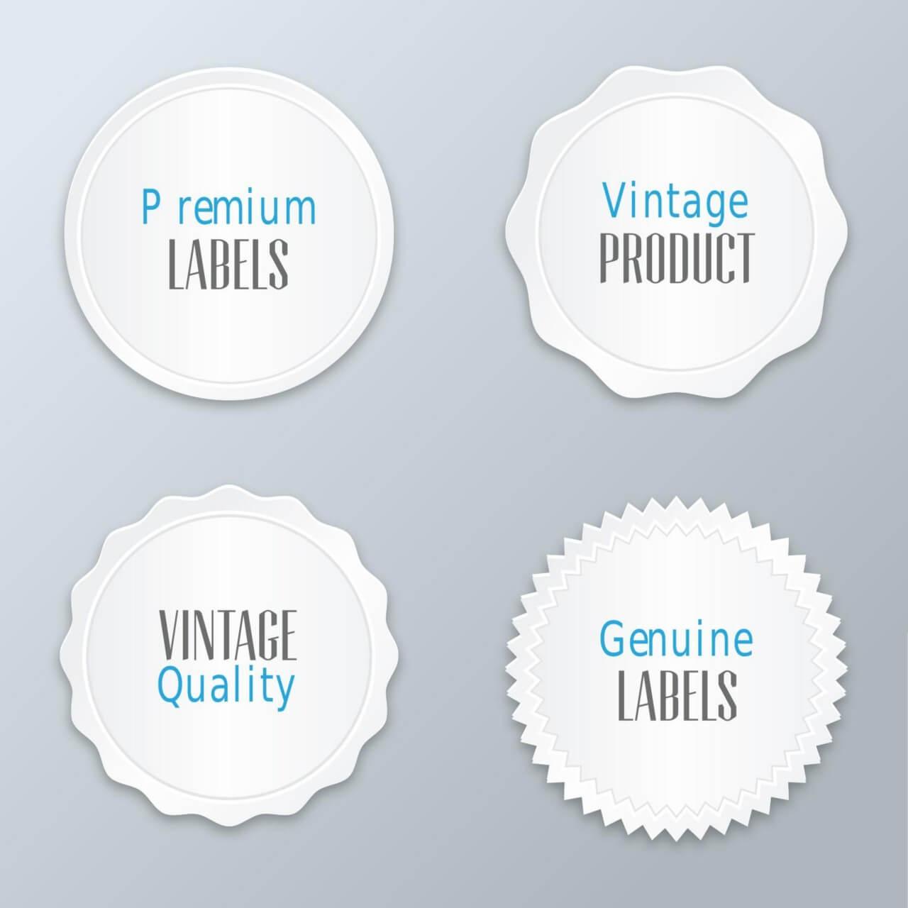 """Free vector """"Set of modern labels, badges"""""""