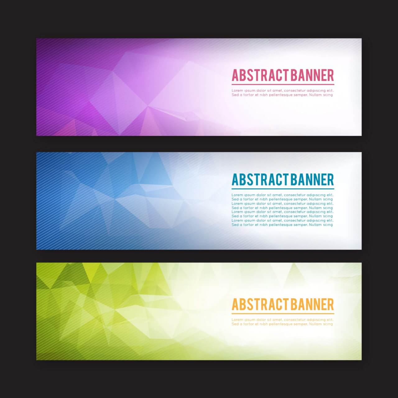 "Free vector ""Set of banners with different design elements"""