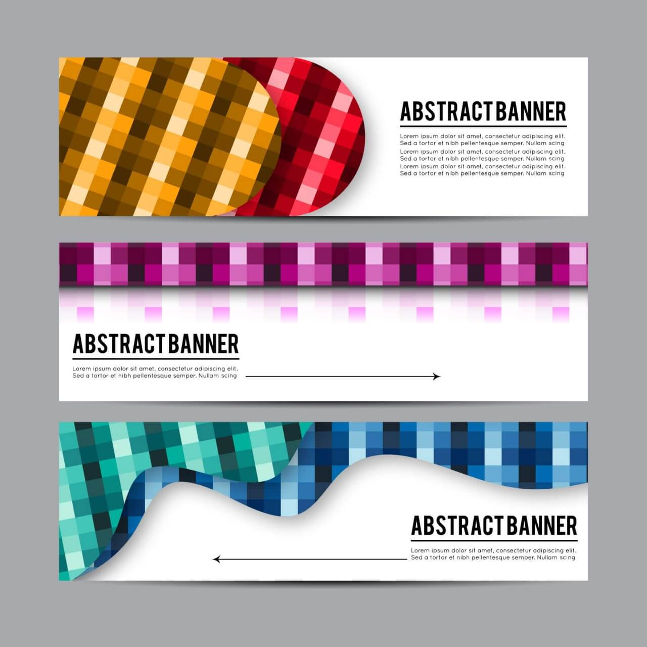 """Free vector """"Set of banners with different design elements"""""""